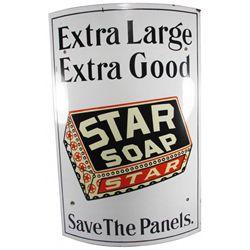 Star Soap Curved Corner Porcelain Sign