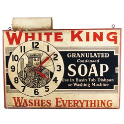 White King Soap Tin Advertising Clock