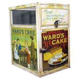 Ward's Cake Tin Litho Store Display Case