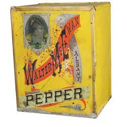 Walter McEwan Albany Tin Store Pepper Bin