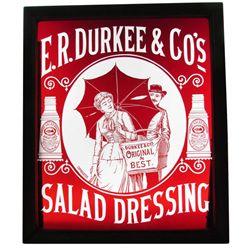 E.R. Durkee Salad Dressing Glass Window