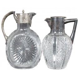 Two Glass Wine Decanters