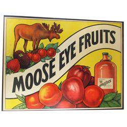 Moose Eye Fruits Paper Sign