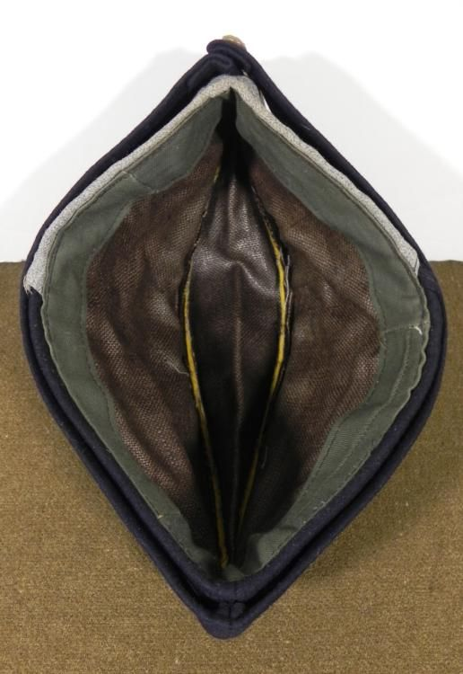 BRITISH MILITARY REGIMENTAL SIDE CAP-YELLOW PIPING