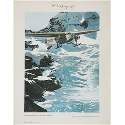 BYRD, Richard E. - Another First for the Flying Admiral - Signed Lithograph