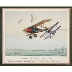 CAMPBELL, Douglas - First Two for America - Signed Lithograph