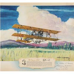 CAPRONI, Gianni - The Caproni - 1909 - Signed Lithograph