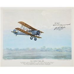 DOOLITTLE, James H. - First All-Blind Flight - 1929 - Signed Lithograph