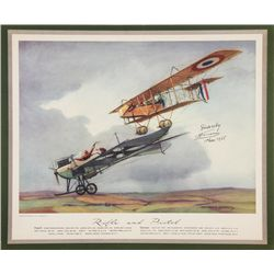 FARMAN, Henri - Rifle and Pistol - Signed Lithograph