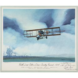 LAW, Ruth - Ruth Law Sets a Cross-Country Record 1916 - Signed Lithograph