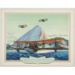 LOENING, Grover - First Pan-American Goodwill Flight, 1926 - Signed Lithograph