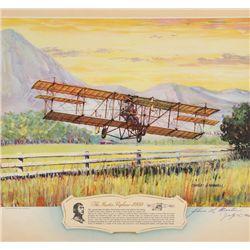 MARTIN, Glenn - The Martin Biplane 1909 - Signed Lithograph