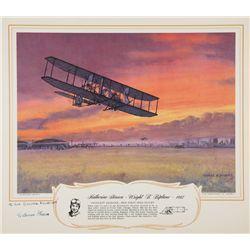 "Katherine Stinson – Wright ""B"" Biplane 1912 - Signed Lithograph"
