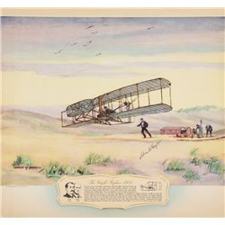 TAYLOR, Charles E. - The Wright Biplane (1903) - Signed Lithograph
