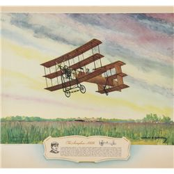 VERDON-ROE, Alliott - The Aeroplane 1909 - Signed Lithograph