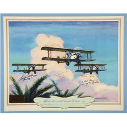 WADE, Leigh - First Round-the-World Flight 1924 - Signed Lithograph