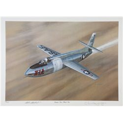 YEAGER, Chuck - Yeager Goes Mach Two - Signed Lithograph
