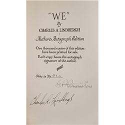 LINDBERGH, Charles A. - WE. Signed Limited Edition, Lindbergh, Ryan, Timm & Gurney