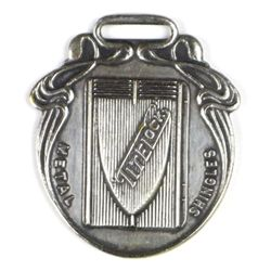 Antique advertising watch fob for Tite Lock