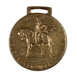 Antique advertising watch fob front marked