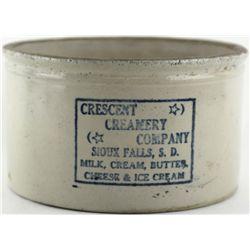 Scarce antique butter adv. crock Crescent Creamery