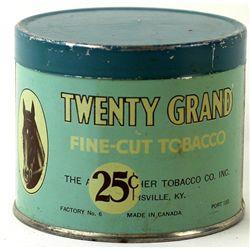 Tin lithograph Twenty Grand Fine Cut tobacco tin