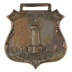 Antique advertising watch fob the front marked