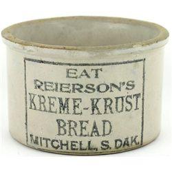 Antique adv. butter crock front stamped Eat