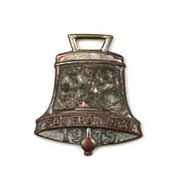 Antique advertising watch fob front marked Mission