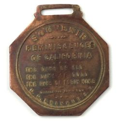 Antique souvenir watch fob the front marked