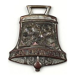 Antique watch fob the front marked San Francisco