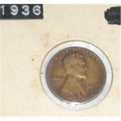 1936 licoln wheat cent *nice early penny!! coin came out of safe!!