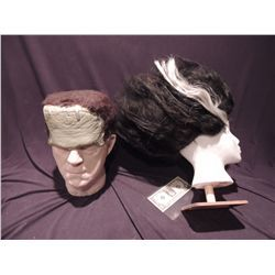 BORIS KARLOFF FULL HEAD LIFE CAST GODS AND MONSTERS SCREEN USED & MATCHED BRIDE OF FRANKENSTEIN WIGS