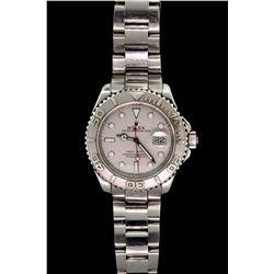 WATCH: (1) Men's st.steel & plat Rolex O.P. YachtMaster Date wristwatch; plat dial & bezel; Oyster l