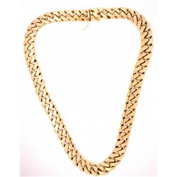 "CHAIN: (1) Men's 14ky heavy curb link chain necklace; 17.45mm wide x 4.77mm thick x 26"" long; 478.75"