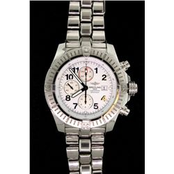 WATCH:  [1] Stainless steel gents Breitling Aeromarine Super Avenger Chronometre Automatic  watch wi