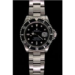 WATCH:  [1] Stainless steel gents Rolex Oyster Perpetual Date Submariner watch with an aftermarket b