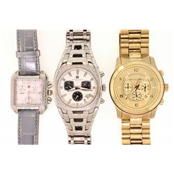 WATCH: (1) Gents Michael Kors Runway Chronograph wristwatch. Stainless steel and gold plated. 41mm c