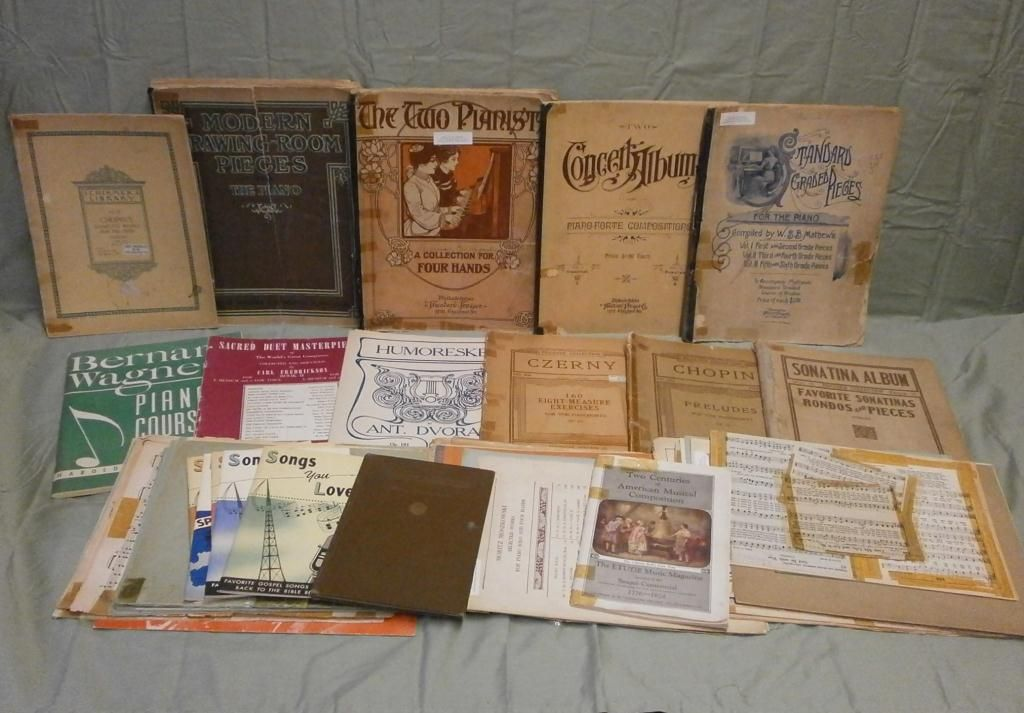 Late 1800's & Early 1900's Piano Music Books