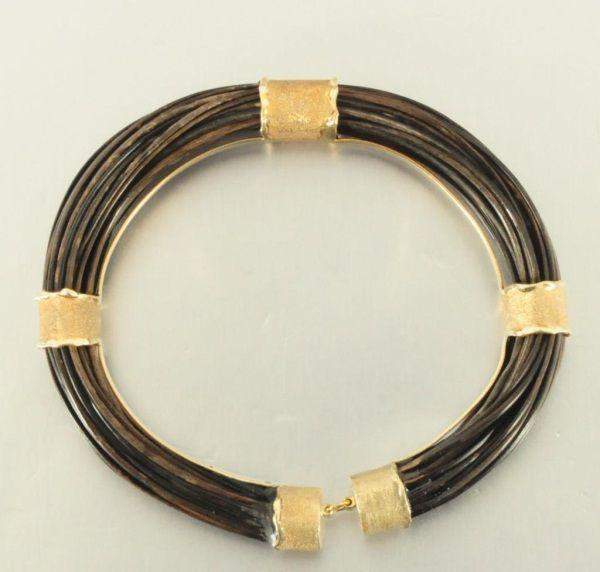 14k Gold Elephant Hair Bracelet