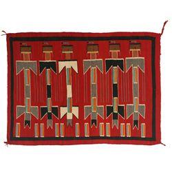 "Navajo Yei Weaving, 4'9"" x 3'6"""