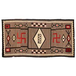 "Navajo Weaving, 10'3"" x 5'1""."