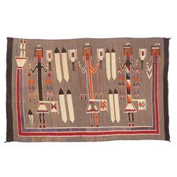 "Navajo Yei Weaving, 5"" x 3'4"""