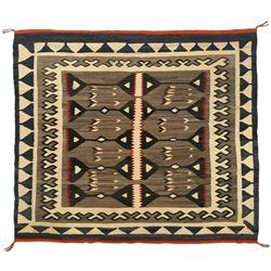 "Navajo Teec Nos Pos Weaving. 4'11"" x 4'5"""