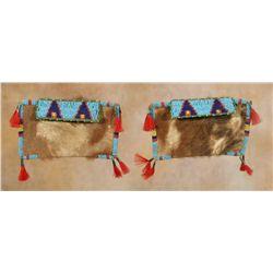 Cheyenne River Beaded Miniature Teepee Bags