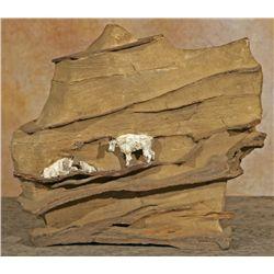 John Louis Clark, cast iron on rock