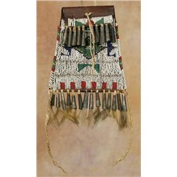 Sioux Beaded Strike-A-Light Bag