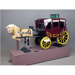 Vintage Stagecoach Kiddie Ride
