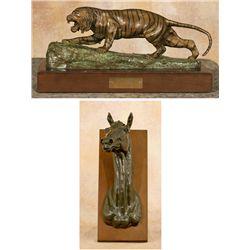 Earle E. Heikka, two bronzes