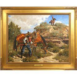 Gary Jack Thornton, oil on canvas